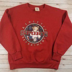 VTG 1990s BOOT Polo Bear Sport Red Sweatshirt